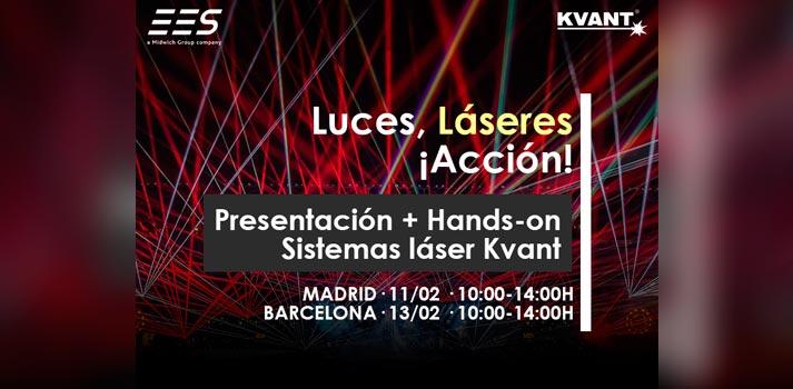 """Información del evento """"Luces, láseres y acción"""" organizado por EES, una empresa del Grupo Midwich"""