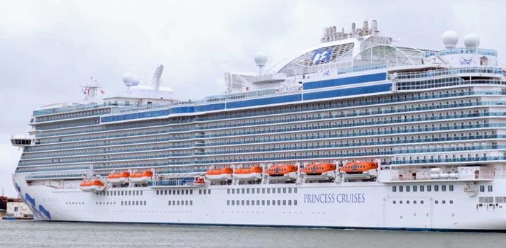 Exterior de uno de los cruceros dePrincess Cruises