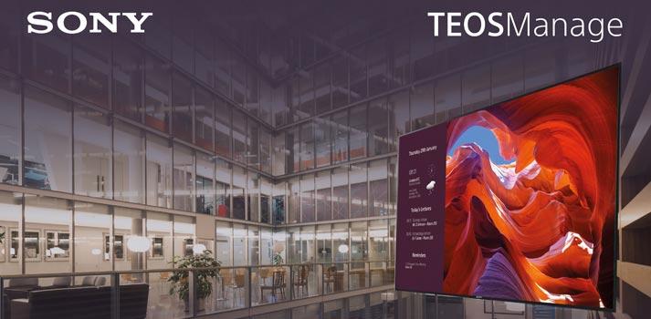 Imagen promocional con un dispositivo empleando el sistema TEOS Manage de Sony