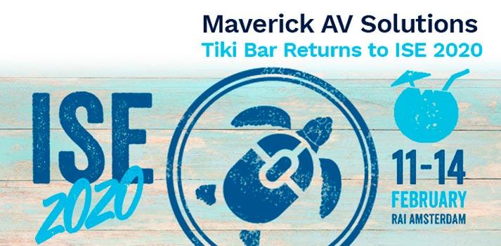 Anuncio del Tiki Bar de Maverick AV Solutions en ISE 2020
