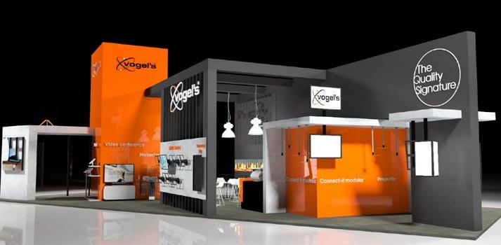 Así será el stand de Vogel's en la feria ISE 2020