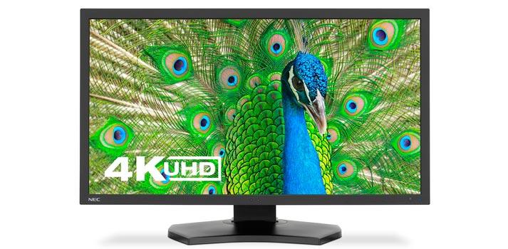 Vista frontal del nuevo monitor 4K de NEC MultiSync PA331D