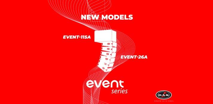 Ilustración con los nuevos equipos de la serie EVENT de DAS Audio