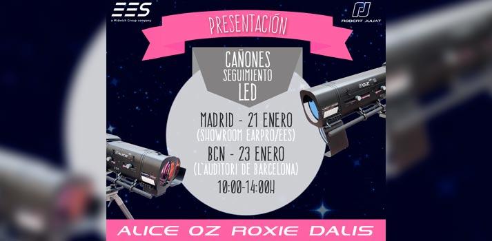 Cañones de seguimiento LED de Robert Juliat presentados en Madrid y Barcelona por EES