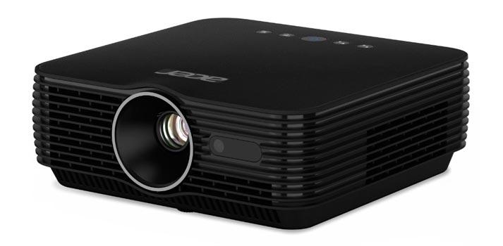 Fotografía del nuevo proyector LED FDH de Acer, el B250i