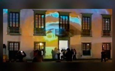 Fachada-videoarte-casa-cultura-Lanzarote
