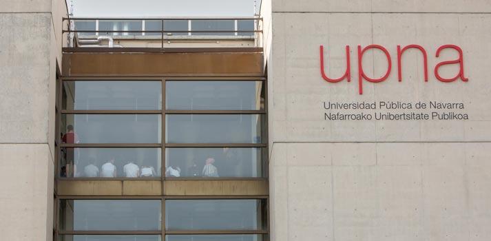 Exterior de la Universidad Pública de Navarra (UPNA)