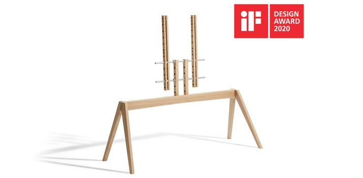 Vogel's NEXT OP2 TV Soporte de madera IF Design Awards