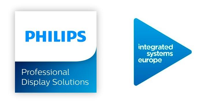 Logos de Philips e ISE 2020