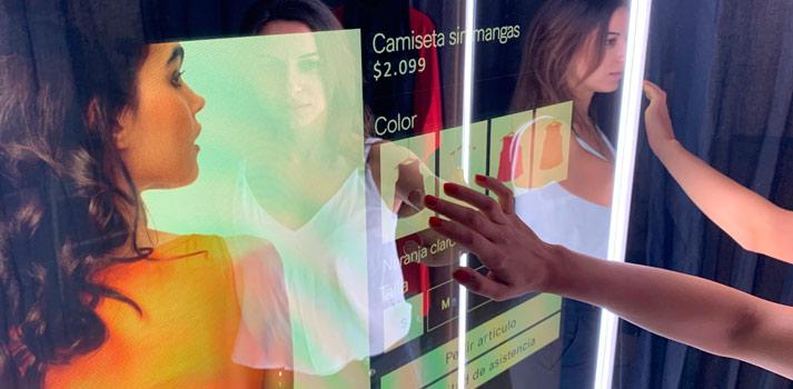 Probador Mirandda de ICON Multimedia que estará presente en la feria ISE 2020