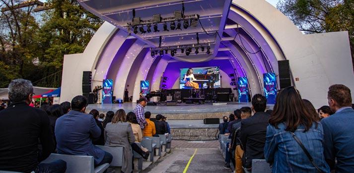Teatro al aire libre Ángela Peralta con equipamiento de BOSE Profesional