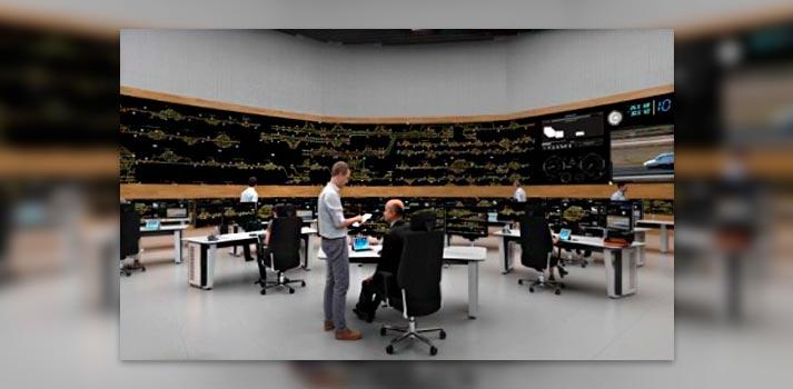 Simulación del espacio en el que se ubicará el nuevo Videowall suministrado por Inge Video
