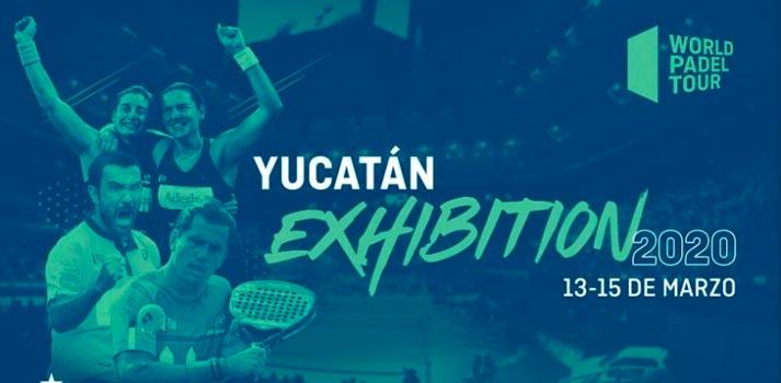 Cartel promocional del torneo de pádel Yucatán Exhibition