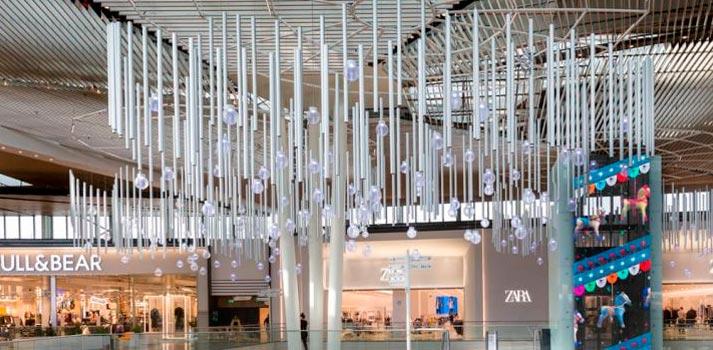 Elementos tecnológicos implementados en el centro comercial Lagoh