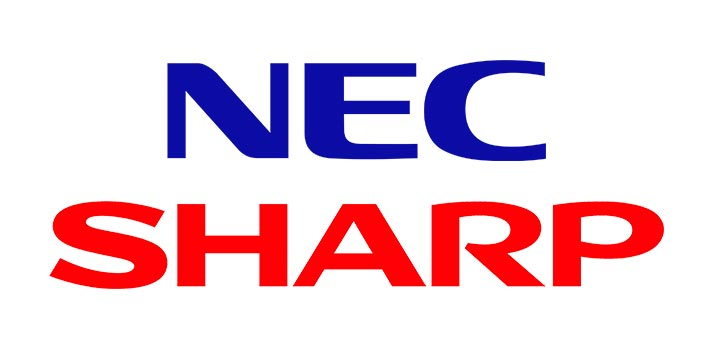 Logotipos de NEC y Sharp