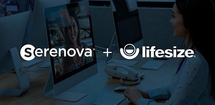 Logotipos de Lifesize y Serenova, dos empresas que recientemente han anunciado su fusión