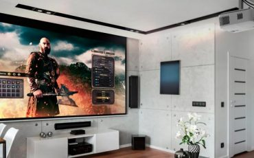 Proyector-uhd50x-optoma-en-un-hogar