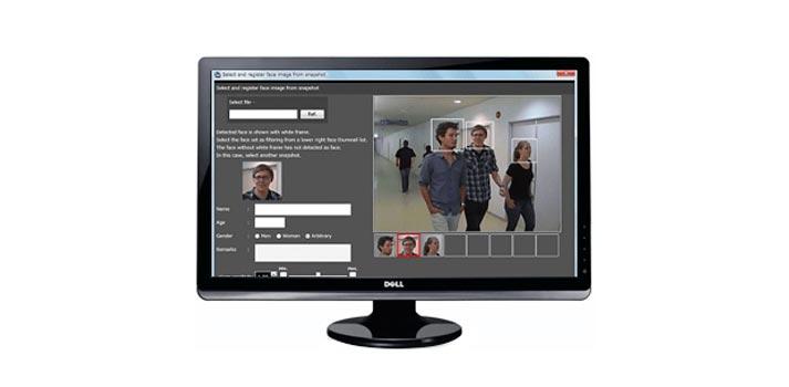 El software de detección facial Video Insight / FacePRO de Panasonic en funcionamiento