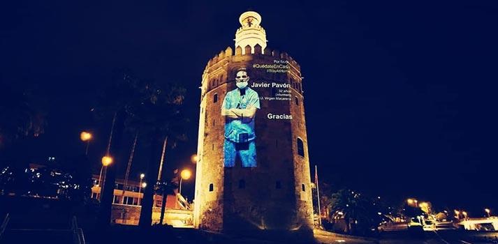 Proyección impulsada por Ingevents sobre la Torre del Oro de Sevilla