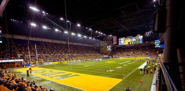 Perspectiva general del estadio estadounidense Fargodome integrado con equipos de Bose Profesional