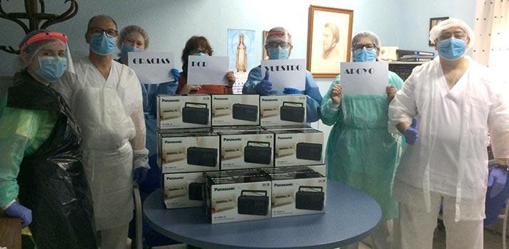 Radios de Panasonic donadas a residencias y hospitales españoles
