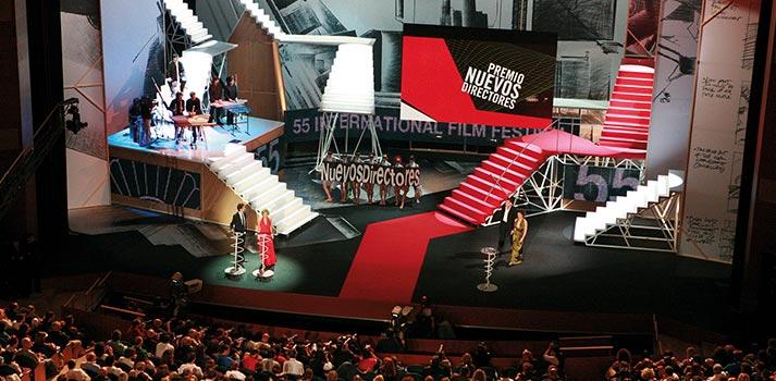 Escenario durante el festival de San Sebastián