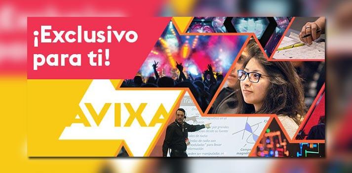 """Imagen con la que se presenta """"AVIXA en directo"""", la última iniciativa de la asociación"""