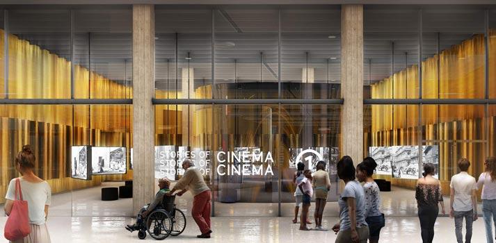 Una de las salas del nuevo Museo de la Academia de Hollywood