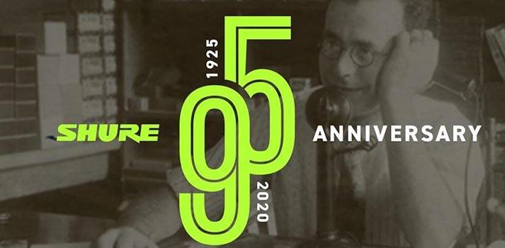 Shure: imagen conmemorativa de su 95º aniversario