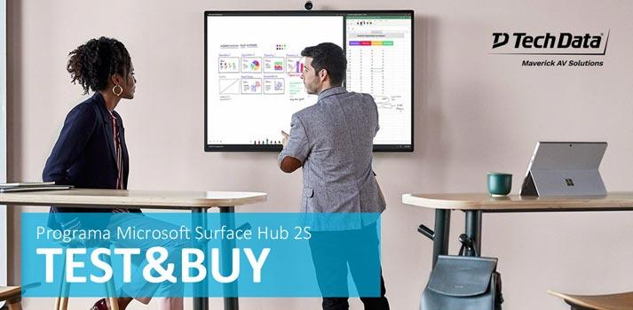 Iniciativa Test&Buy de Maverick AV Solutions con la Microsoft Surface Hub 2S