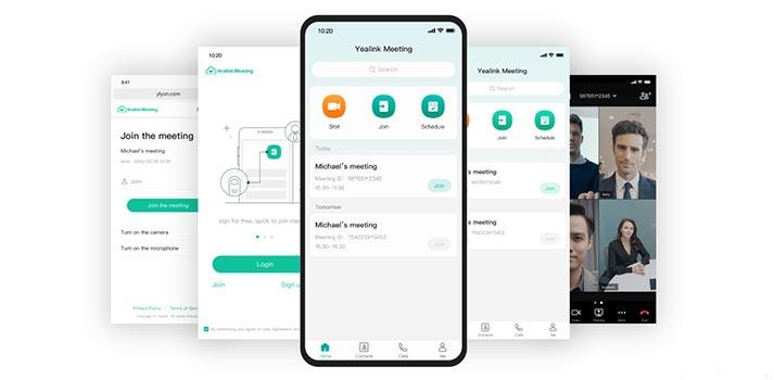 Interfaz de usuario móvil de Yealink Meeting