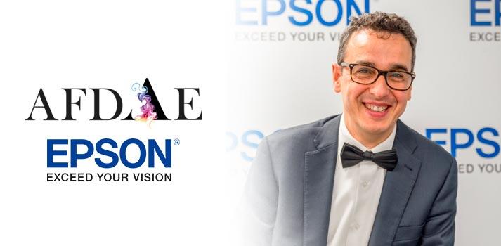 Jordi Pallicera, sales manager de Epson ibérica, y AFDAE