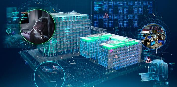 Render de un hospital digitalizado. Confirmación del acuerdo entre Telefónica y GE Healthcare