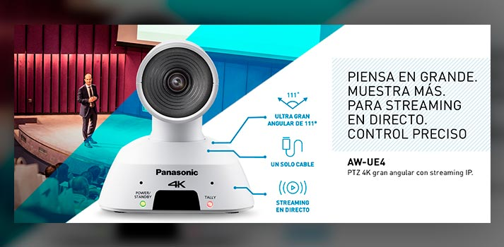 Cámara PTZ AW-UE4 de Panasonic