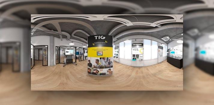 Frame de una parte de la experiencia virtual de TIG