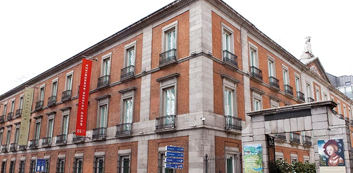 Fotografía exterior día nublado Museo Thyssen de Madrid
