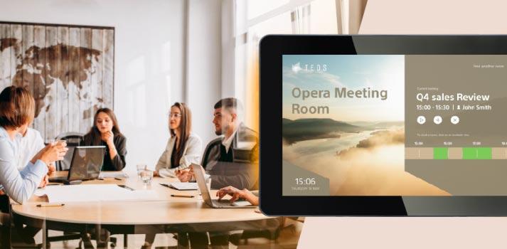 Imagen conceptual de TEOS, 2.2, plataforma de gestión de espacios de trabajo de Sony