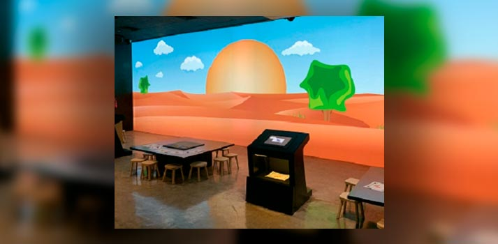 Elementos audiovisuales implementados por Visyon en el museo Al Dhaid Wildlife Centre