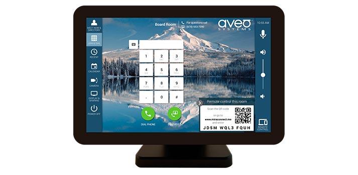 Interfaz del usuario de un sistema Mira Connect con la solución Me integrada. Esta solución ha sido desarrollada por Aveo Systems