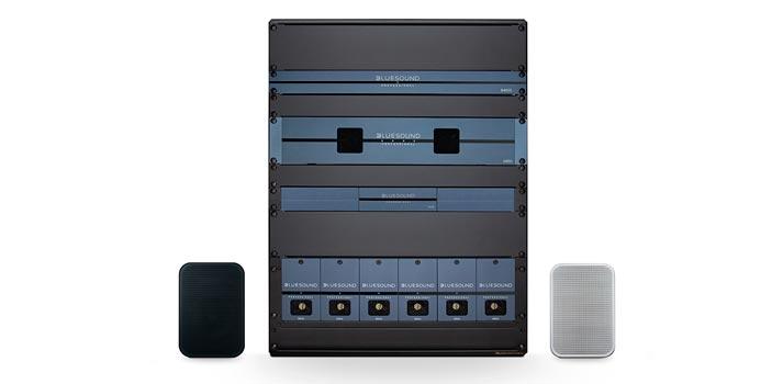 Sistema de Bluesound Professional, distribuido por Gaplasa en España, en formato rack