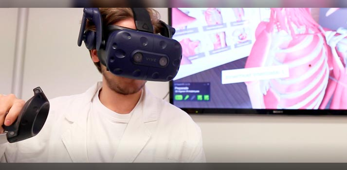Uso de un sistema de realidad virtual en la Universidad CEU San Pablo