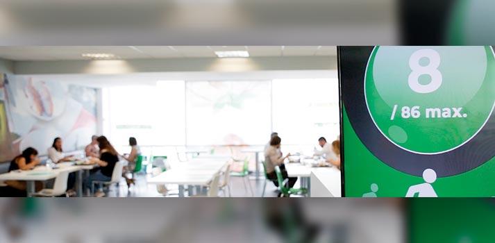 Señalización digital en los comedores de las empresas