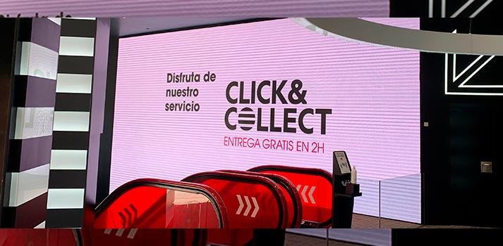 Señalización digital en una tienda de Zara (Inditex)