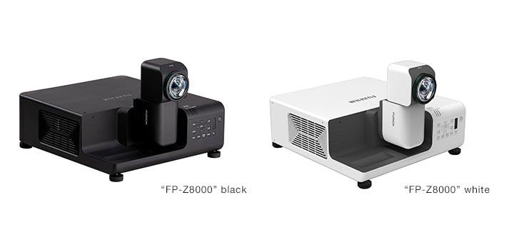 Proyectores FP-Z8000 de Fujifilm en dos colores: blanco y negro