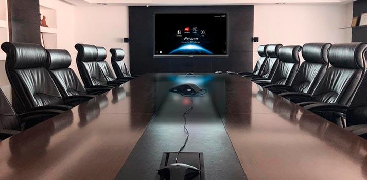 Sala de conferencias de Deloitte Uruguay implementado con sistema de Viewsonic