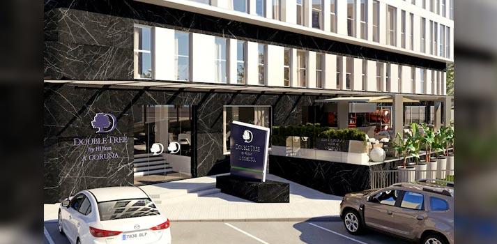 Render del nuevo hotel DoubleTree by Hilton - A Coruña