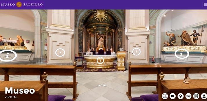 Visita virtual del Museo Salzillo de Murcia - Interfaz gráfica