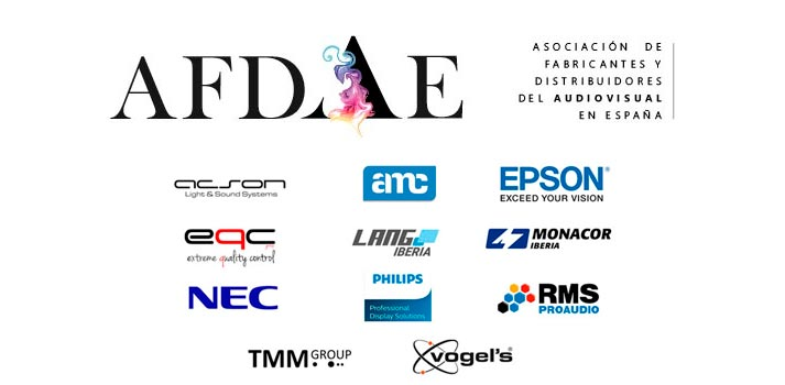 Primeras empresas confirmadas que participarán activamente en AFDAE, Asociación de Fabricantes y Distribuidores del Audiovisual Español