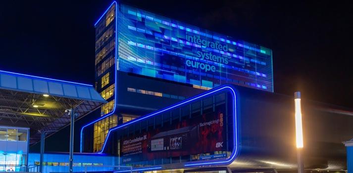 Imagen exterior del RAI de Ámsterdam durante la celebración de ISE 2020