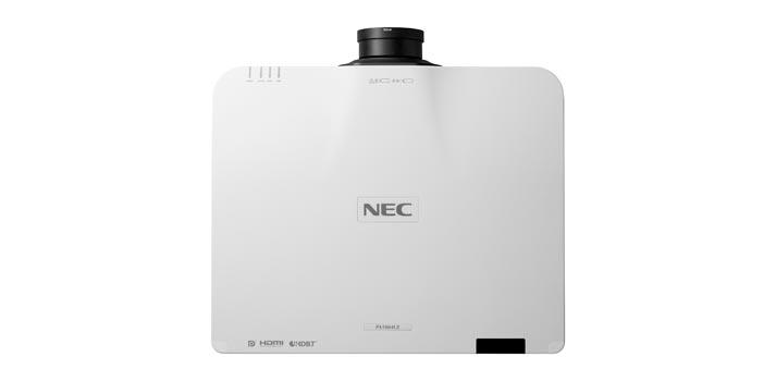 Proyector PA1004UL de NEC - Vista cenital